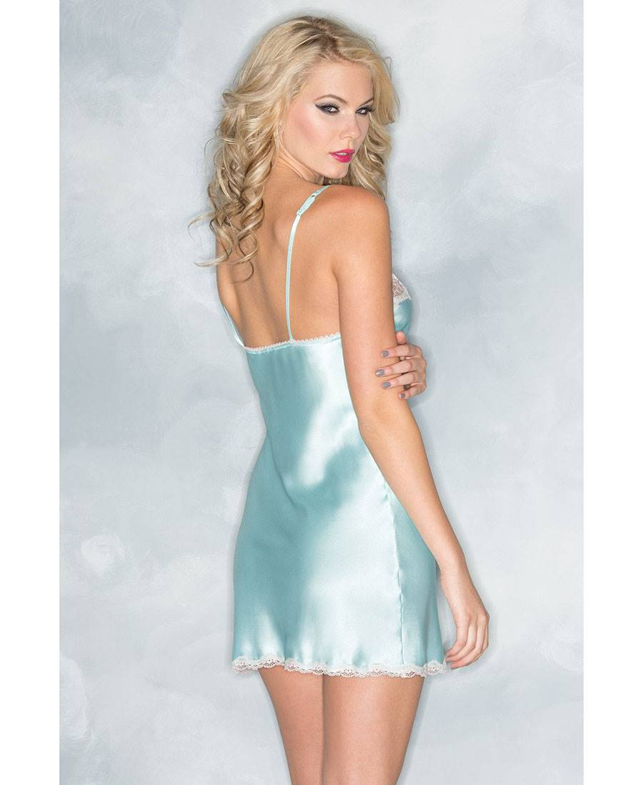 Be Wicked BW1521 Satin And Lace Sleepwear Chemise