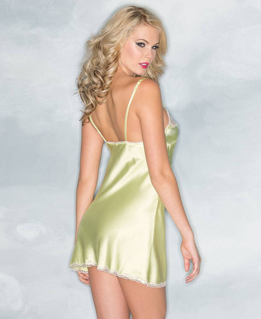 Satin And Lace Sleepwear Chemise Be Wicked BW1521