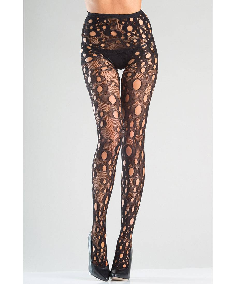 2d54307ff7078d New Be Wicked BW781 Crotchless Holey Fishnet Pantyhose | eBay