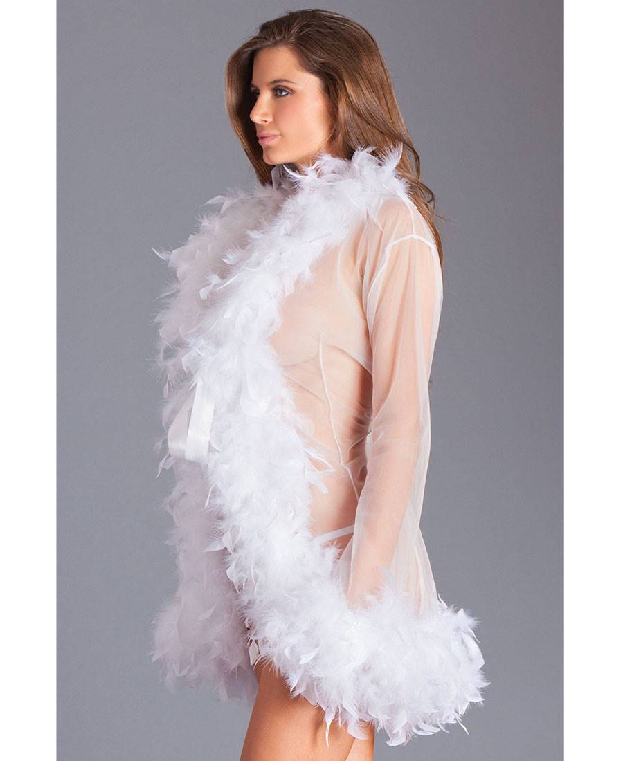 0ec8f407df949 New-Be-Wicked-BW834S-Feather-Glamour-Short-Robe thumbnail
