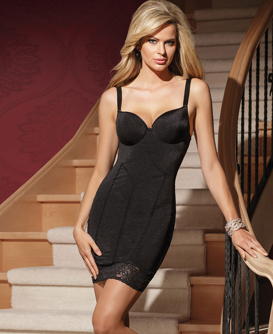 New-Coquette-1433-Molded-Underwire-Pushup-Cup-Chemise thumbnail 5