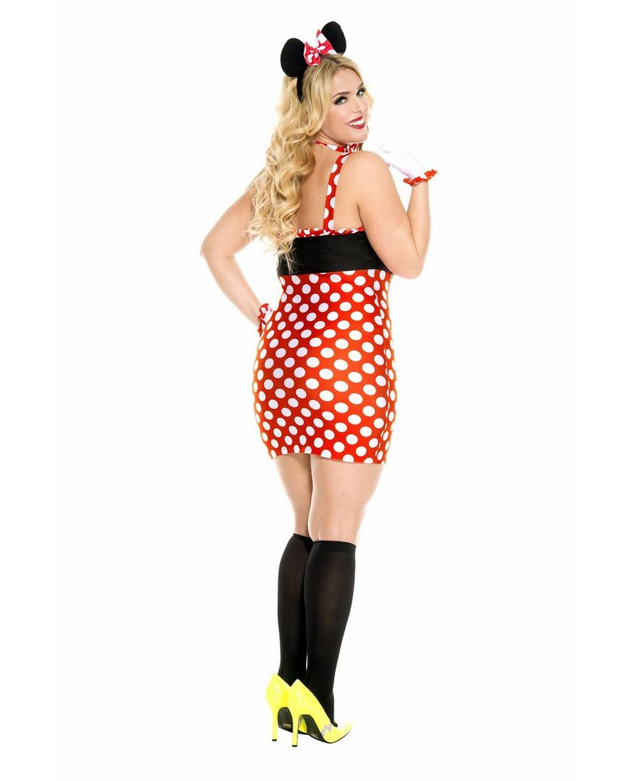 Details about New Music Legs 70617Q Plus Size Darling Minnie Mouse Costume