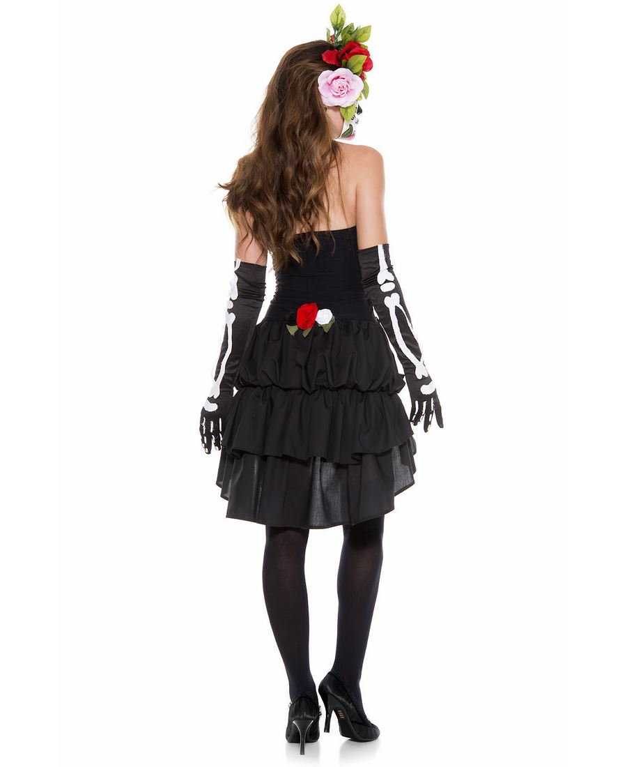 Muerte Day of the Dead Costume for Women New Music Legs 70625 Mrs all sizes