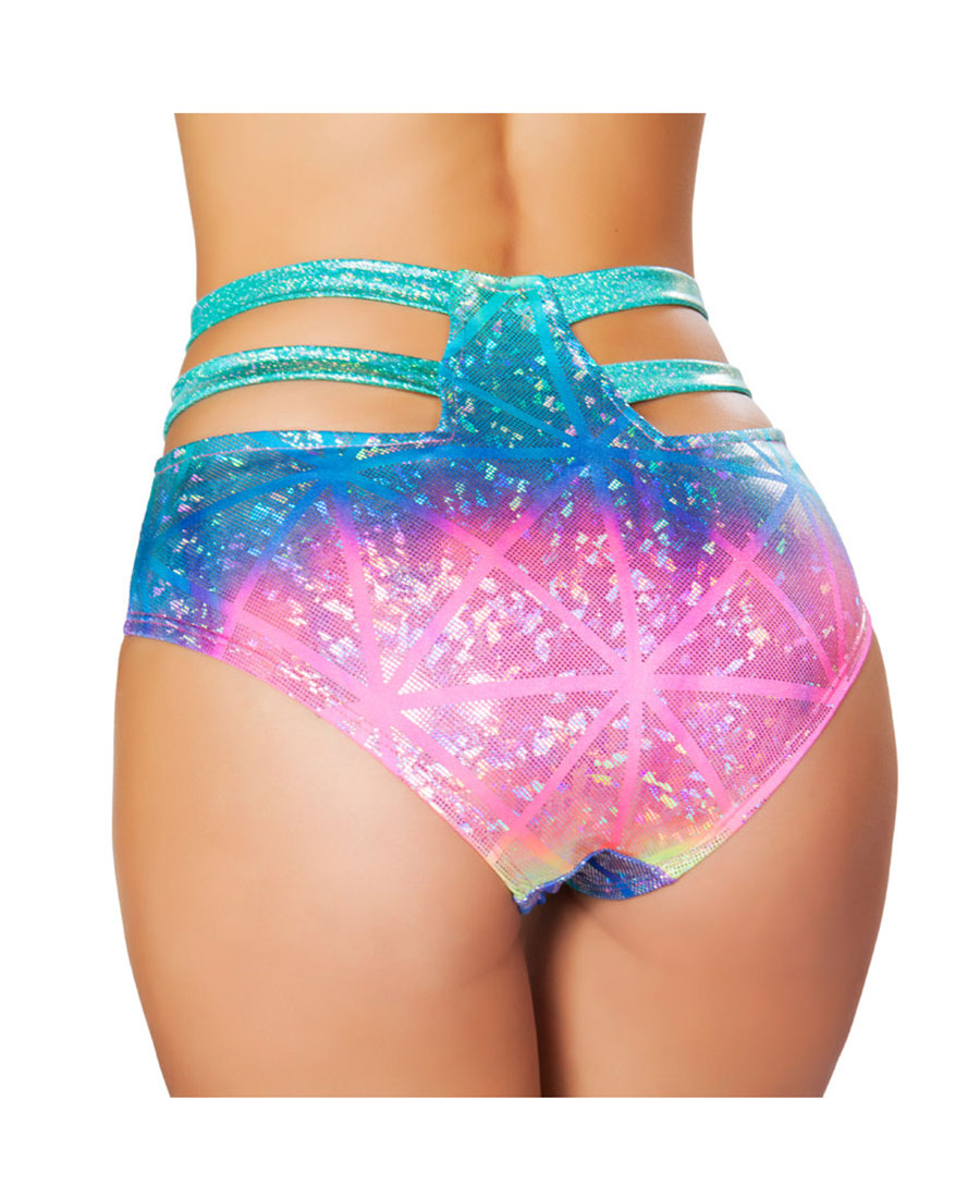 High Waisted Electric Shorts Roma Costume 3319